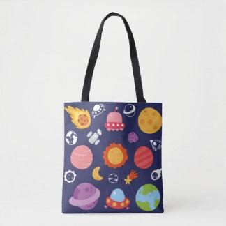 Galaxy Print. Tote Bag