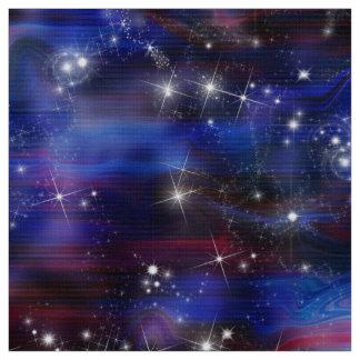 Galaxy purple beautiful night starry sky image fabric