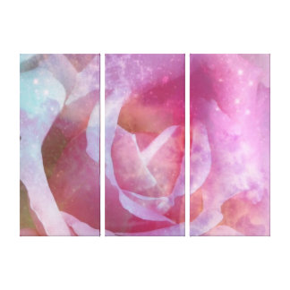 Galaxy Rose Wrapped Canvas Panels Gallery Wrap Canvas