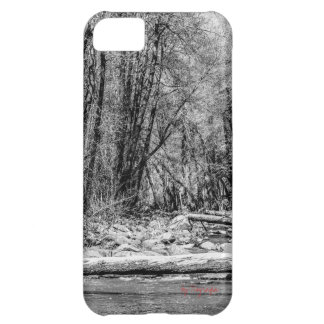 Galaxy S4 - Black and White Creek Photography iPhone 5C Covers