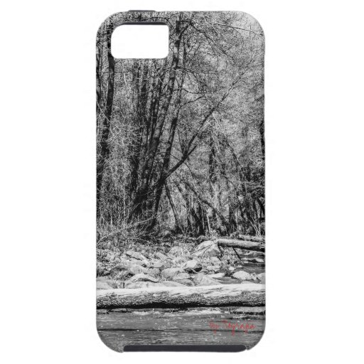 Galaxy S4 - Black and White Creek Photography iPhone 5 Cover