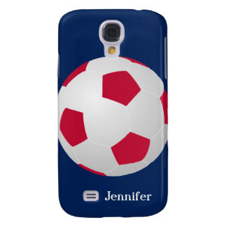 Galaxy S4 Case, Soccer Ball, Red, White, and Blue Galaxy S4 Case