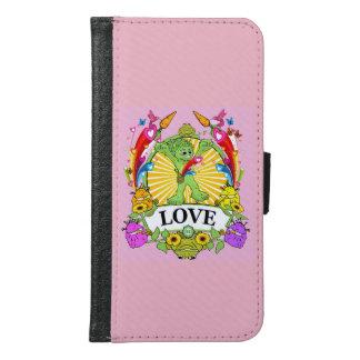 Galaxy S6 Wallet Case Munchi Power! LOVE in PINK