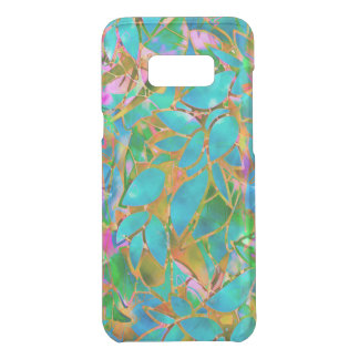 Galaxy S8+ Clearly Case Floral Stained Glass