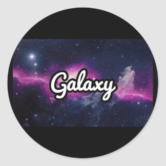 Galaxy Scooters Classic Round Sticker