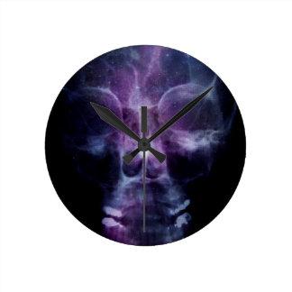 Galaxy Skull X-ray Round Wall Clocks