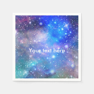 Galaxy Space Birthday Party Napkins Disposable Serviettes