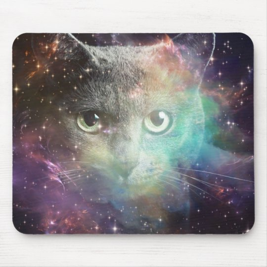 GALAXY SPACE CAT MOUSE MAT