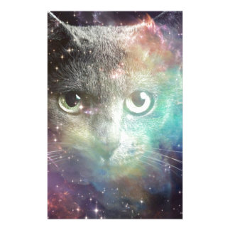 GALAXY SPACE CAT STATIONERY PAPER