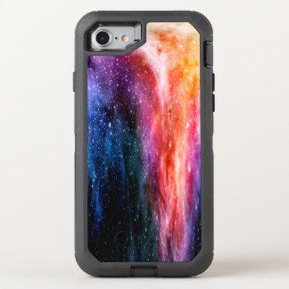 Galaxy Space Nebula Blue Lavender Pink Rainbow OtterBox Defender iPhone 7 Case