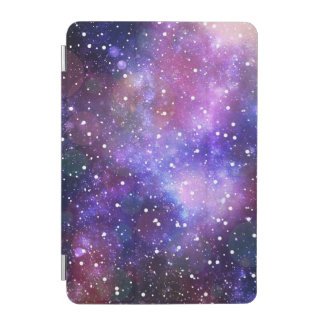 Galaxy space stars purple blue illustration iPad mini cover