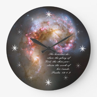 Galaxy Spacial Scripture Creation Large Clock