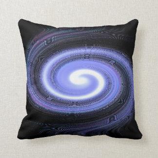galaxy spiral throw pillow