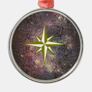 Galaxy Star Silver-Colored Round Decoration