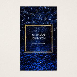 Galaxy Star Wars Space Black Confetti Vip Business Card