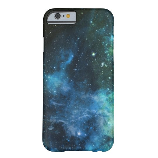 Galaxy Stars Nebula iPhone Blue Green Barely There