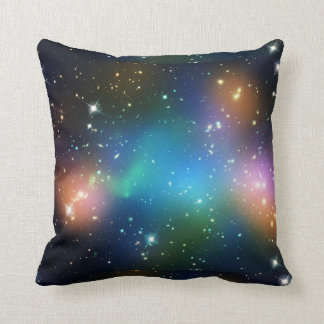 Galaxy Stars Northern Lights Colorful Nebula Print Cushion