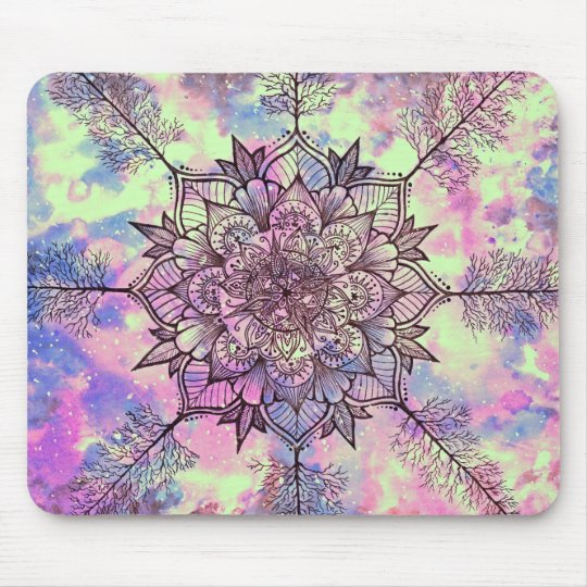 Galaxy Tree Mandala Mouse Mat