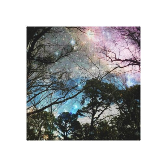 Galaxy trees canvas print