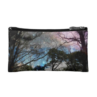 Galaxy Trees Makeup Bag