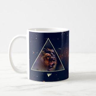 Galaxy Triangle Lion Head - Trendium Authentic Basic White Mug