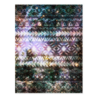 Galaxy Tribal Pattern Space Aztec Andes Ethnic Postcard