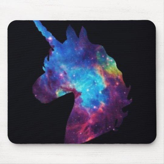 Galaxy unicorn mouse pad
