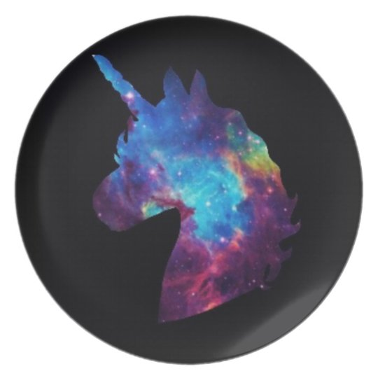 Galaxy unicorn plate