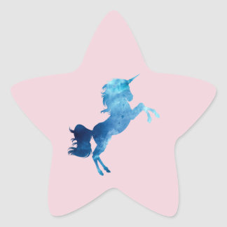 Galaxy Unicorn Star Sticker