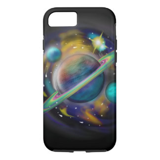 galaxy, universe, planets, saturn space scene iPhone 7 case