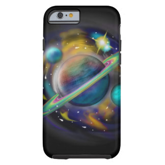 galaxy, universe, planets, saturn space scene tough iPhone 6 case