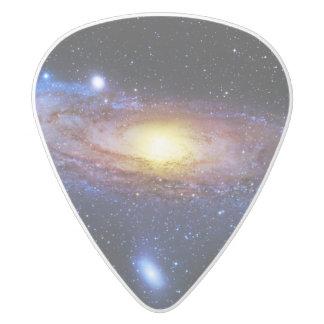 Galaxy Unknown White Delrin Guitar Pick