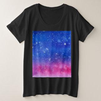 Galaxy Watercolour Plus Size T-Shirt