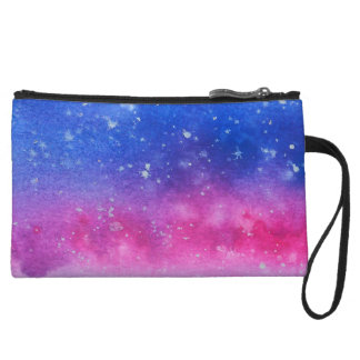 Galaxy Watercolour Wristlet