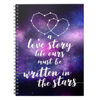 Galaxy Wedding Constellation Written In The Stars Notebook