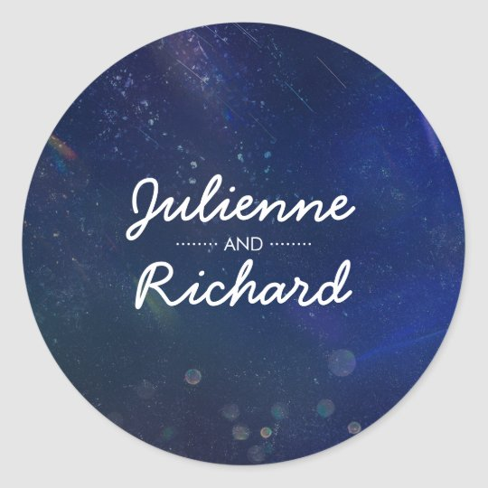 Galaxy Wedding Couple's Name Sticker