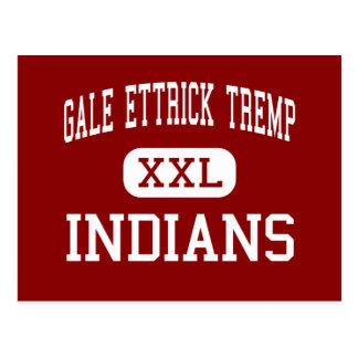 Gale Ettrick Tremp - Indians - Trempealeau Postcard