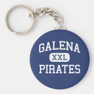 Galena - Pirates - High School - Galena Illinois Basic Round Button Key Ring