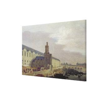 Galerie du Louvre and the Porte Neuve, c.1640 Canvas Print