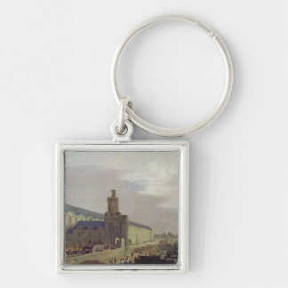 Galerie du Louvre and the Porte Neuve, c.1640 Silver-Colored Square Key Ring