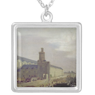 Galerie du Louvre and the Porte Neuve, c.1640 Silver Plated Necklace