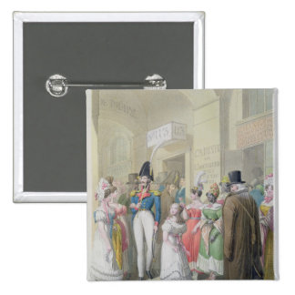 Galeries du Palais-Royal, from 'Tableau de 15 Cm Square Badge