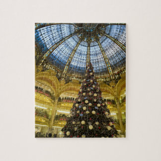 Galeries La Fayette at Christmas, Paris, France Jigsaw Puzzle