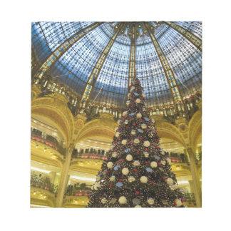 Galeries La Fayette at Christmas, Paris, France Notepad