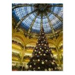 Galeries La Fayette at Christmas, Paris, France Postcard