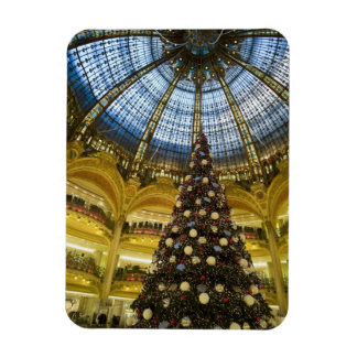 Galeries La Fayette at Christmas, Paris, France Rectangular Photo Magnet