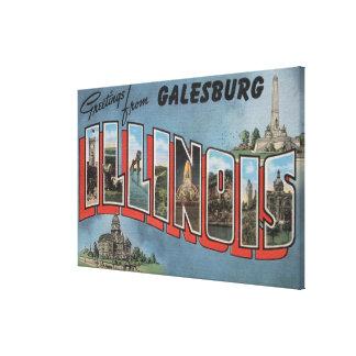 Galesburg, Illinois - Large Letter Scenes 2 Canvas Print