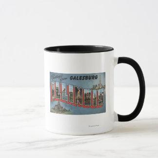 Galesburg, Illinois - Large Letter Scenes Mug