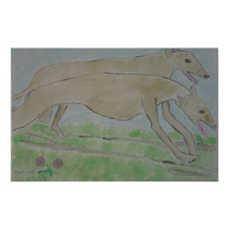 galgo/greyhound poster