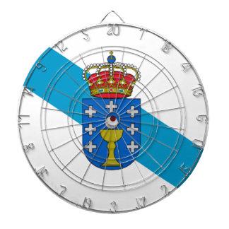 Galicia (Spain) Flag Dartboard